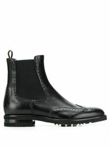 Fabiana Filippi brogue-style Chelsea boots - Black