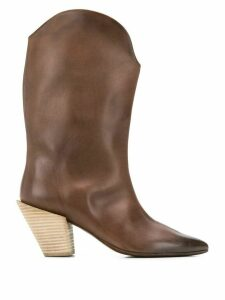 Marsèll pointed cowboy boots - Brown
