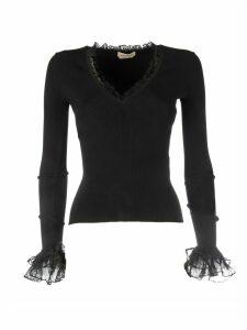 Alexander McQueen V Neck Pullover Bottom Lace
