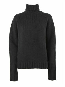 Philosophy di Lorenzo Serafini Black Wool And Cashmere Blend Roll Neck Sweater