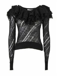 Philosophy di Lorenzo Serafini Black Wool And Cashmere Blend Sweater