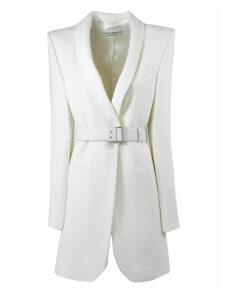 Philosophy di Lorenzo Serafini White Virgin Wool Blend Longline Blazer
