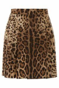 Dolce & Gabbana Leopard-printed Mini Skirt