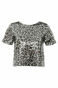 MICHAEL Michael Kors Animalier Cropped Top