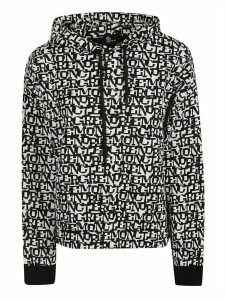 Moncler Logo All-over Print Hoodie