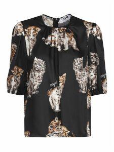 Printed Cat Blouse