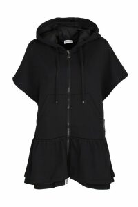 Moncler short-sleeved fleece cardigan