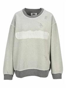Mm6 Rreversed Logo Sweatshirt