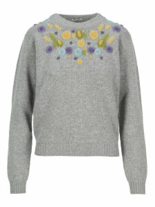 Miu Miu Embroidered Sweater