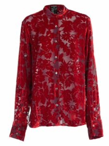 Ann Demeulemeester Shirt L/s Viscose And Silk