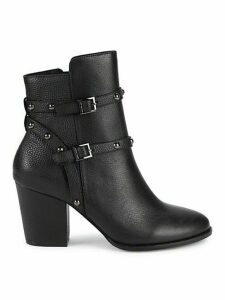 Flora Pebbled Leather Booties
