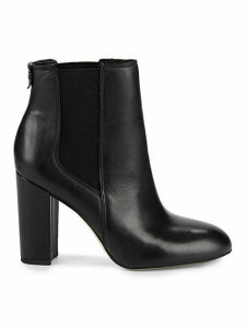 Case Leather Block-Heel Booties
