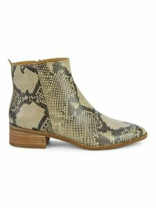 Letrica Snake-Print Leather Chelsea Boots