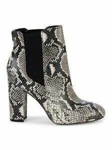 Case Snake-Print Leather Booties