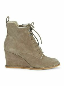 Gerry Suede & Faux Fur Trim Booties