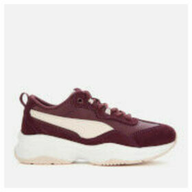 Puma Women's Cilia Sd Trainers - Mulled Wine/Pastel Parchment - UK 7 - Red