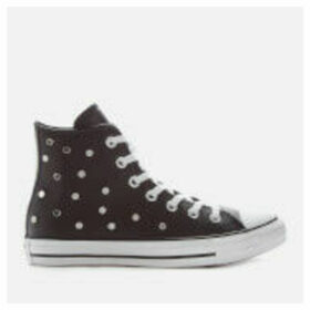 Converse Women's Chuck Taylor All Star Studded Hi-Top Trainers - Black/White/Black - UK 8 - Black