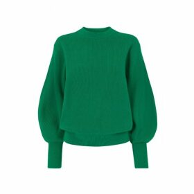 Kitri Odell Green Ribbed Knit Jumper