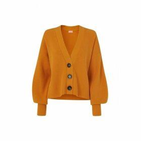 Kitri Jolie Orange Knitted Cardigan