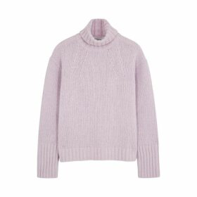 Philosophy Di Lorenzo Serafini Lilac Roll-neck Wool-blend Jumper