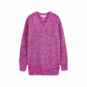 MSGM Pink Metallic-knit Jumper