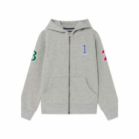 Hackett Number Detail Cotton Blend Zipped Hoodie