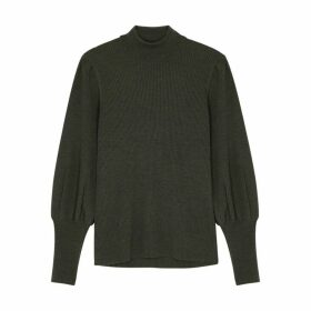 Cefinn Eva Dark Green Roll-neck Wool Jumper
