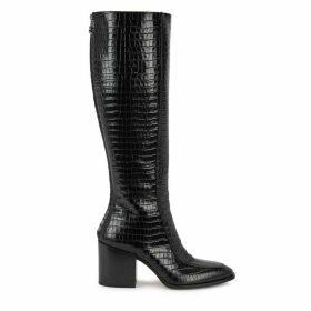 AEYDE Charlie 75 Crocodile-effect Knee-high Boots