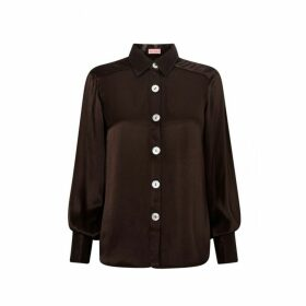 Kitri Joanna Chocolate Blouse