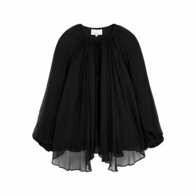 3.1 Phillip Lim Black Silk-chiffon Blouse