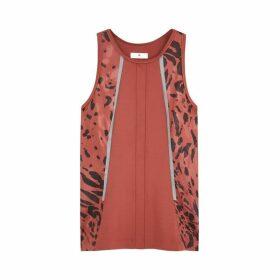 Adidas X Stella McCartney Leopard-print Stretch-jersey Tank