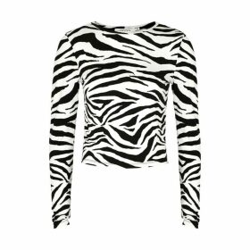 Alice & Olivia Jeans Delaina Tiger-print Jersey Top