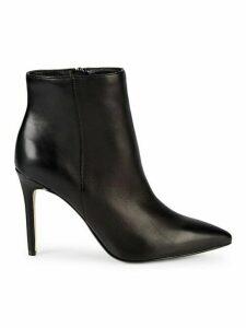 Aubrey Leather Stiletto Booties