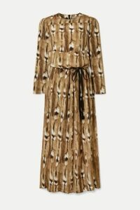 By Malene Birger - Alhena Printed Crepe Maxi Dress - Light brown