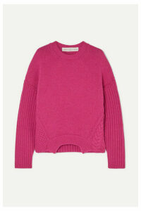 Golden Goose - Momoirobara Paneled Merino Wool Sweater - Pink