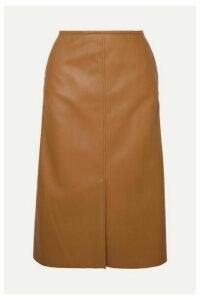 Joseph - Iden Leather Midi Skirt - Camel