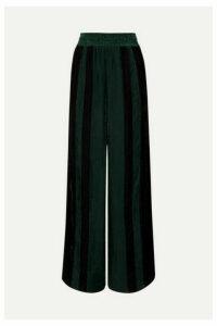 Golden Goose - Sophie Striped Corduroy Wide-leg Pants - Green