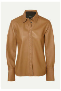Joseph - Brann Leather Shirt - Camel