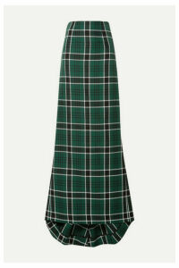 Rosie Assoulin - Tie-back Checked Woven Maxi Skirt - Green
