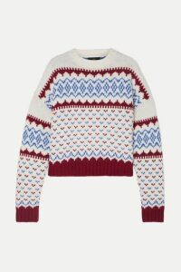 Alanui - Fair Isle Wool And Cashmere-blend Sweater - Blue
