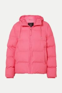 Rains - Hooded Quilted Matte-pu Jacket - Pink
