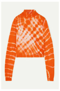 Aries - Tie-dyed Wool Turtleneck Sweater - Orange