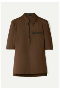 Kwaidan Editions - Stretch-twill Shirt - Dark brown