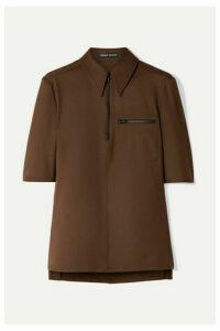 Kwaidan Editions - Stretch-twill Shirt - Dark brown