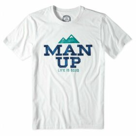 Life is Good Man Up T-Shirt Cloud White