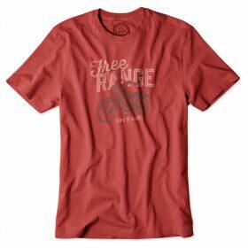 Life is Good Crusher T-Shirt Nantuket Red
