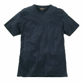 Mens Short Sleeved V Neck T-Shirt Navy