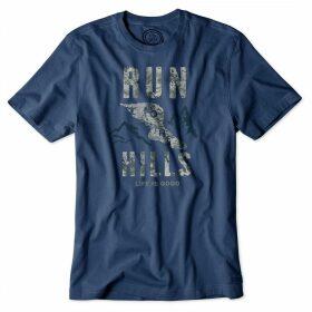 Life is Good Crusher T-Shirt Darkest Blue