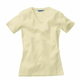 Ladies Short Sleeved V neck T-shirt Bone