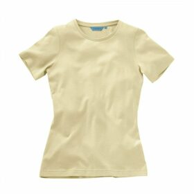 Ladies Short Sleeved Deep Crew T-Shirt Bone